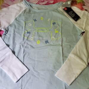 Nwt under armour top ls shirt girls youth